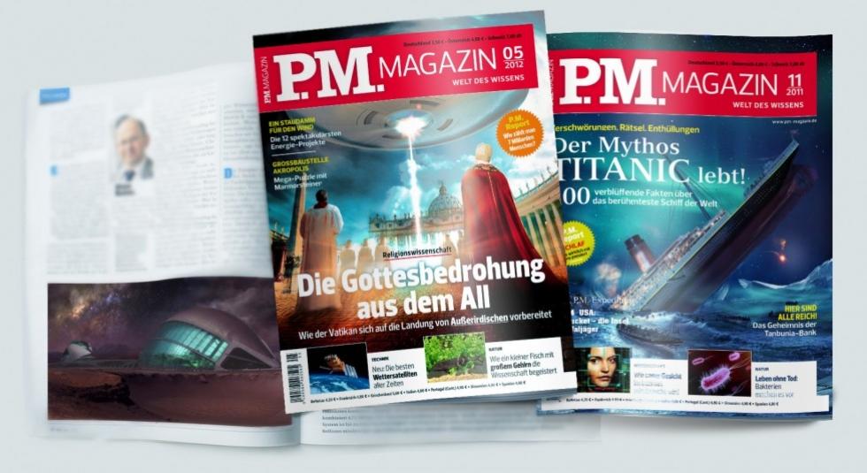 Обложки для журнала PM Magazine (Германия)