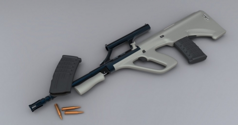 3D model of Steyr AUG