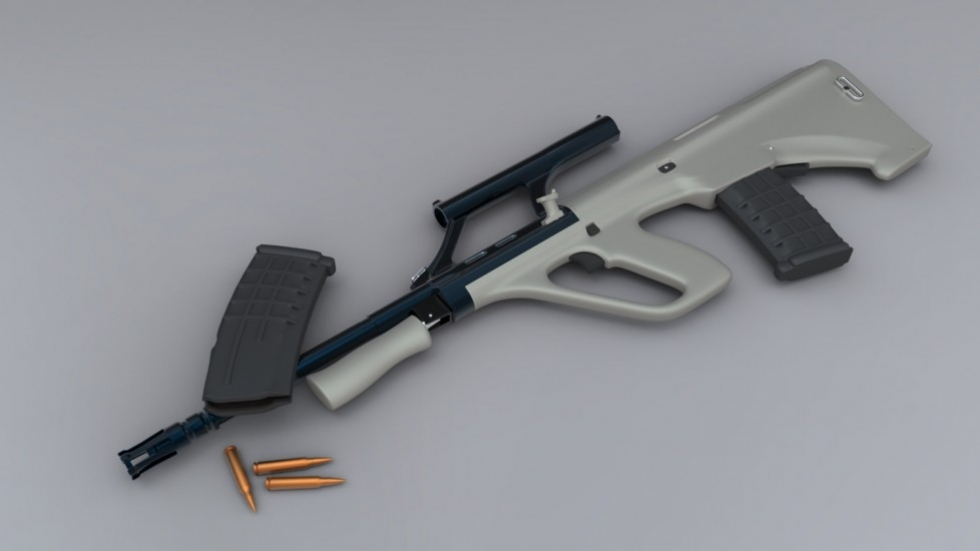 3D модель винтовки Steyr AUG в портфолио