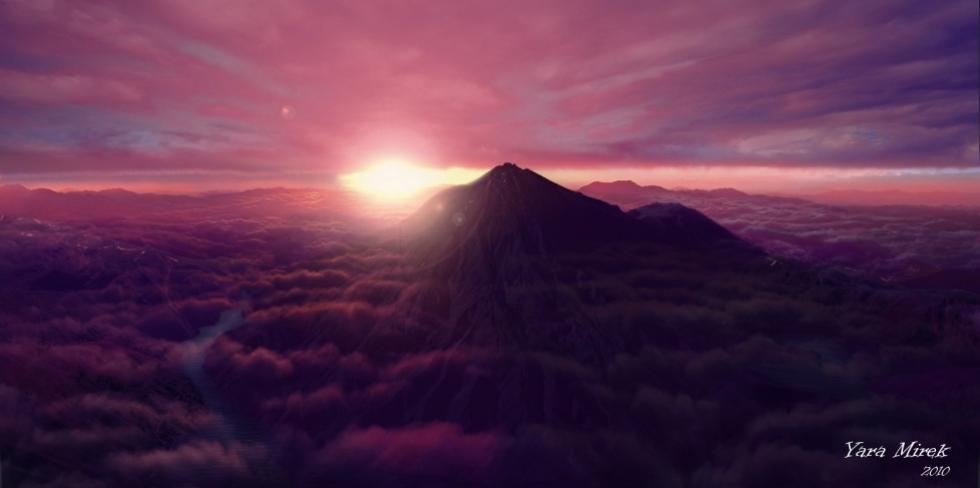 Сиреневые горы