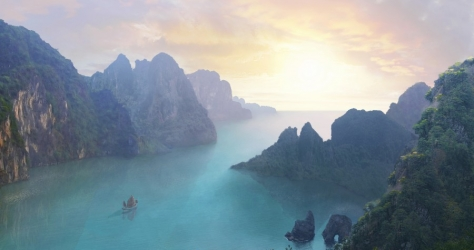 Dream Harbour - matte painting