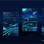 Панорама города с отдельными картинами