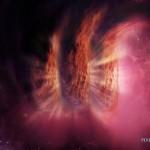логотип в галактике