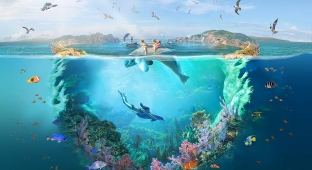 Потрясающий образ лагуны для Анапского дельфинария