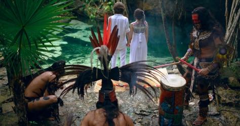 Наша свадьба в Мексике. Церемония Майя с шаманом